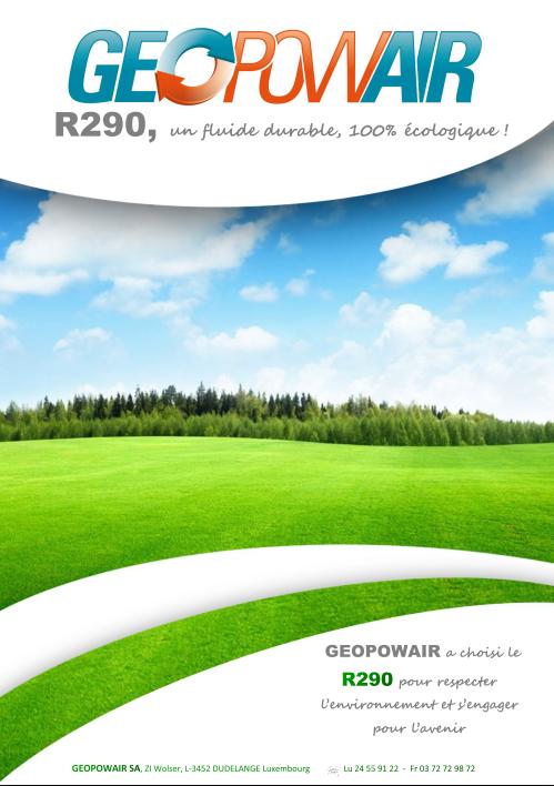 Plaquette fluide frigorigène R290